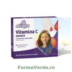 Alinan Vitamina C Kids Zmeura 20 comprimate masticabile Fiterman