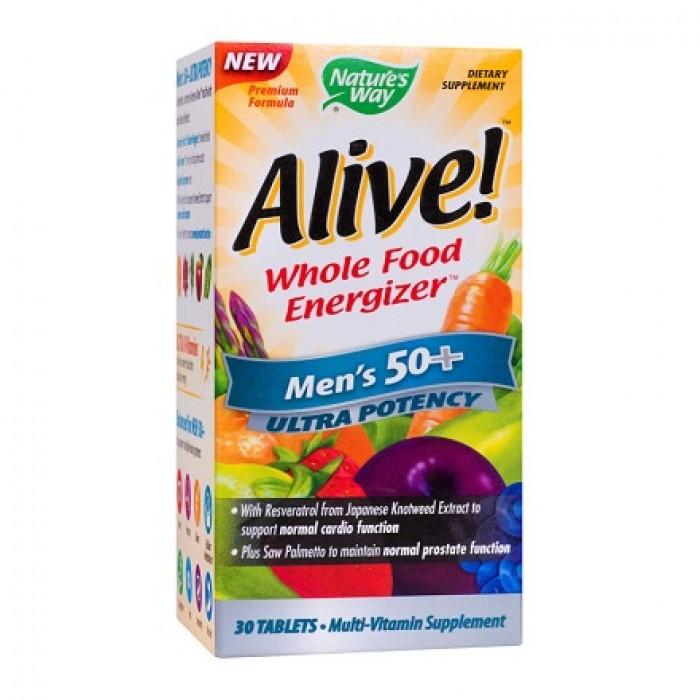 Alive Men's Vitamine Barbati 50ani+ Ultra Nature's Way 30 tablete Secom