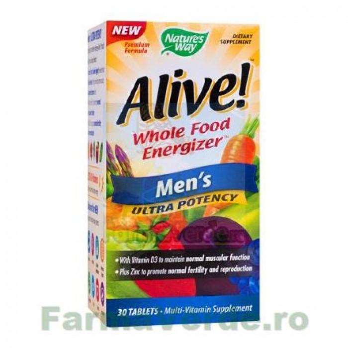Alive Men's Ultra Vitamine 30 tablete Nature's Way Secom
