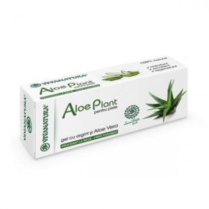 Gel AloePlant Aloe Vera si Argint Coloidal 20 ml VivaNatura