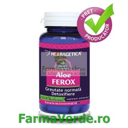 Aloe Ferox 460 mg 30 capsule Herbagetica