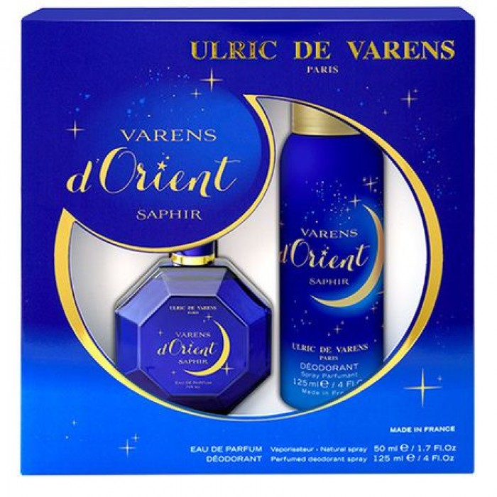 Set Cadou Ulric de Varens d'Orient Saphir, Femei: Apa de Parfum, 50 ml + Deodorant antiperspirant 125 ml