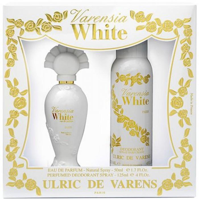 Set Cadou Ulric de Varens Varensia White pentru Femei: Apa de Parfum, 50 ml + Deodorant antiperspirant,125ml