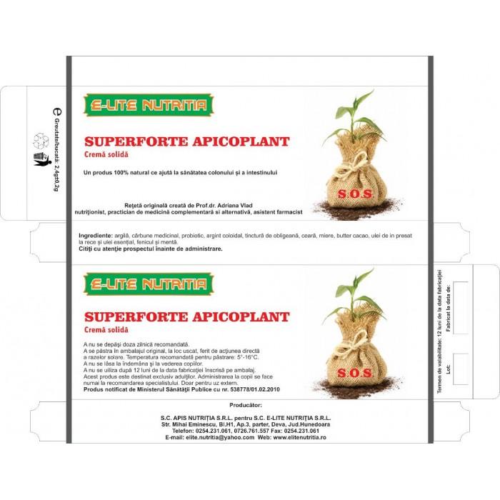 Superforte Apicoplant 20 supozitoare pentru Colon Iritabil Elite Nutritia Deva