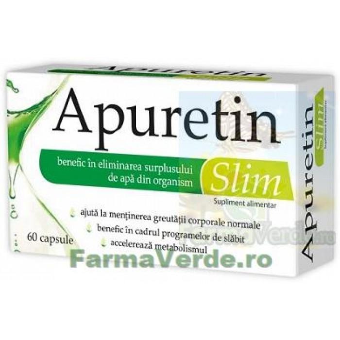 Apuretin Slim Elimini Excesul de Apa din Organism 60 capsule Zdrovit