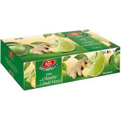 Aromfruct ceai cu ghimbir și lamai verzi 100 plicuri Fares Orastie