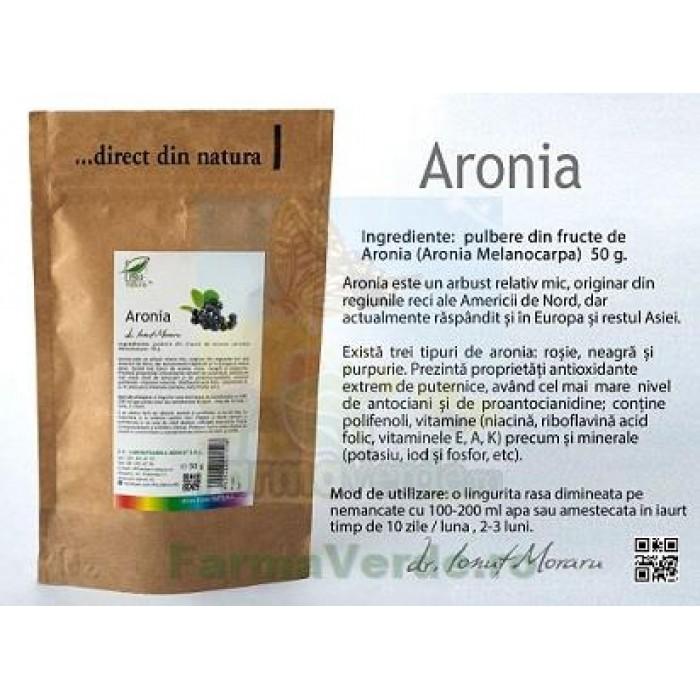 Aronia pulbere fructe Aronia Melanocarpa 50 gr ProNatura