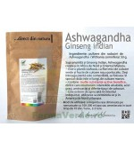 Ashwagandha Ginseng Indian pulbere Withania somnifera 50 gr ProNatura