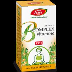 B Complex Vitamine Naturale 60 capsule Fares