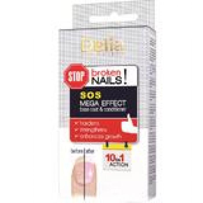Baza si balsam pentru unghii SOS Mega Effect 10 in 1 Delia Cosmetics 11 ml