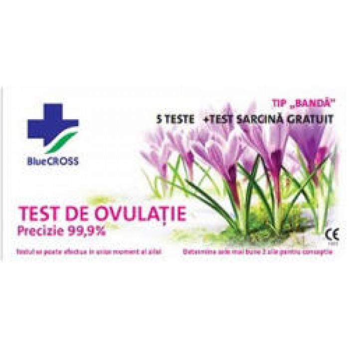 Test Ovulatie 5 buc + test de sarcina gratuit Blue Cross