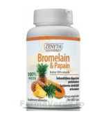 Bromelain & Papain Enzime Digestive 60 capsule Zenyth