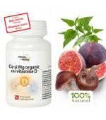 Calciu si magneziu organic cu vitamina D 60 cpr DaciaPlant