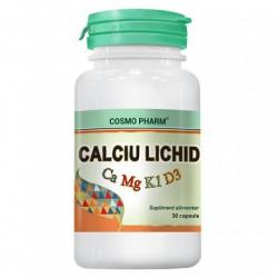 Calciu + Magneziu + Vitamina D LICHID 30 capsule Cosmopharm