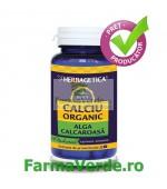 CALCIU ORGANIC Alga Calcaroasa 60 capsule Herbagetica