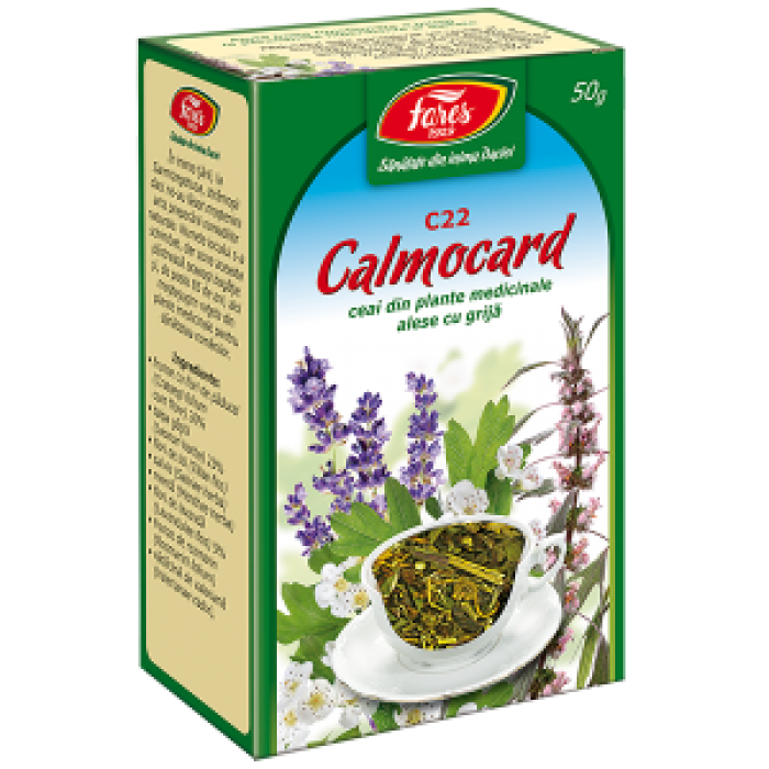 Ceai Calmocard (fost Ceai Calmant Cardiac) 50 g Fares