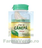 ULEI DE CANABIS CANEPA (Cannabis sativa) 1000 mg 30 capsule Cosmopharm