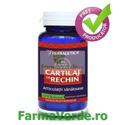 Cartilaj de Rechin 500 mg 60 capsule Herbagetica