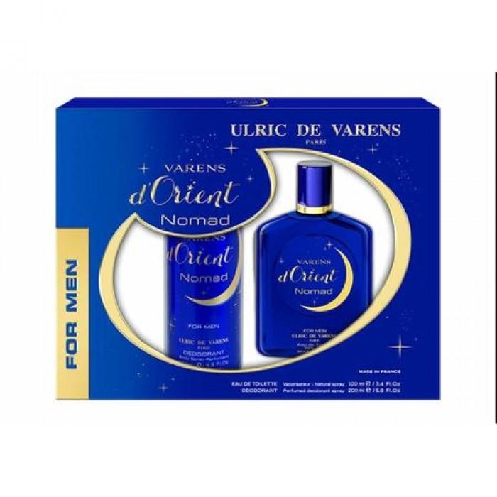 Caseta Cadou Ulric de Varens NOMAD, Barbati: Apa de Parfum, 100 ml si Deodorant 125 ml
