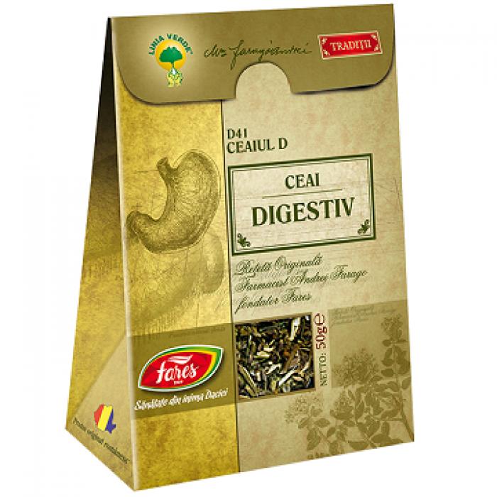 Ceai D Digestiv reteta originala Andrei Farago 50 gr Fares