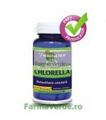Chlorella 410 mg Alga Bogata in Minerale 60 capsule Herbagetica