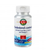 Cholesterol Control Red Yeast Rice CoQ-10 Omega 3 Drojdie din orez 30 capsule Secom