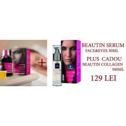 Beautin Collagen Face&Eye Serum 30ml Ser pentru fata si ochi Solgar