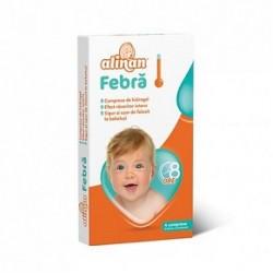 Alinan Profever Febra Comprese cu hidrogel pentru frunte cu efect racoritor 4 bucati Fiterman Pharma