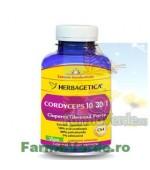 Cordyceps 10/30/1 Ciuperca Tibetana Forte 120 capsule Herbagetica