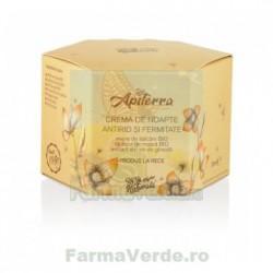 Crema de noapte antirid si fermitate, cu miere de salcam, extract de vin de gheata si laptisor de matca, 50 ml Apiterra