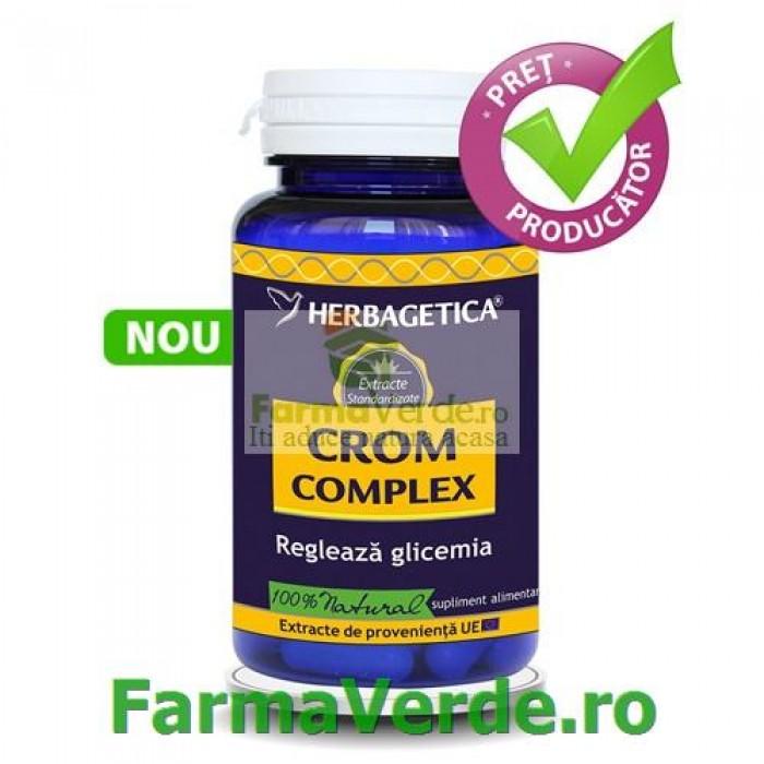 Crom Complex Regleaza Glicemia 30 capsule Herbagetica