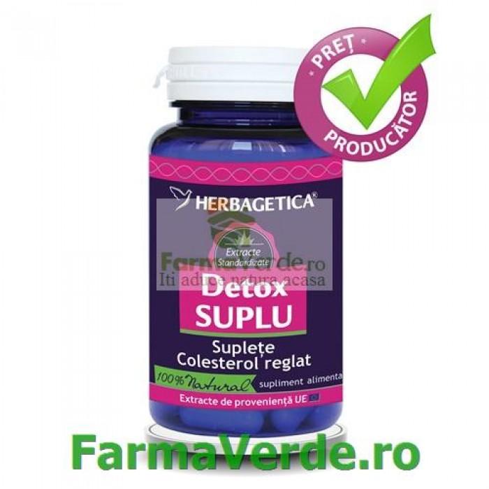 Detox Suplu Regleaza Greutatea 60 capsule Herbagetica