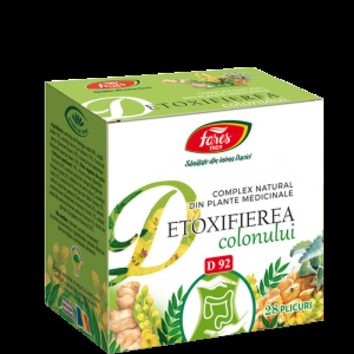 Detoxifierea colonului D92 complex plante medicinale 28 plicuri Fares