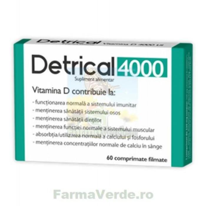 Detrical Vitamina D3 4000UI 60 comprimate Zdrovit