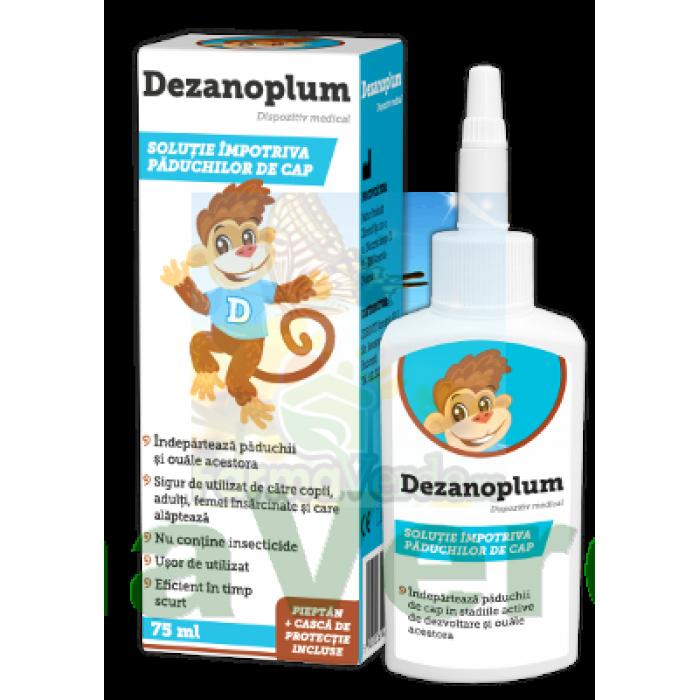 Dezanoplum Solutie impotriva paduchilor 75 ml Zdrovit