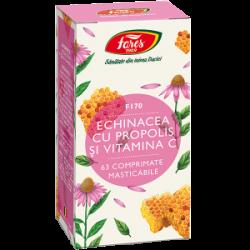 Echinacea cu Propolis si Vitamina C 63 comprimate masticabile Fares