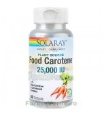 FOOD CAROTENE Vitamina A 25000UI 30 capsule Secom Solaray
