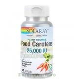 FOOD CAROTENE Vitamina A 25000UI 30 capsule Secom Solaray