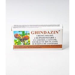 Ghindazin Supozitoare Extract de Ghinda 10 buc 1,5 gr Elzin