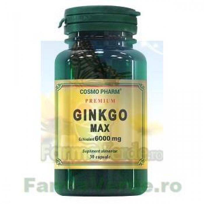 Ginkgo Max Extract Ginkgo biloba 120 mg echiv. 6000 mg 30 capsule Cosmopharm Premium