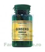 Ginseng Corean 30 tablete 1000 mg CosmoPharm Premium