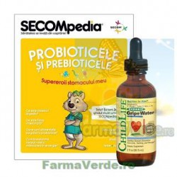 Gripe Water Probiotice si Prebiotice Copii si Bebelusi 59,15 ml ChildeLife Secom
