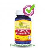 Hepato Curcumin 95 Detoxifierea Ficatului 30 capsule Herbagetica