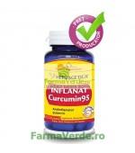 Inflanat Curcumin 95 Antiinflamator Puternic! 120 capsule Herbagetica