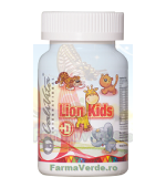 LION KIDS CU VITAMINA D 90 TABLETE COPII CaliVita