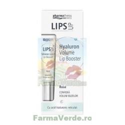 LIPS UP BALSAM DE BUZE PENTRU VOLUM CU ACID HIALURONIC ROSE 7 ml ZDROVIT