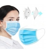Set 50 masti de protectie chirurgicale cu 3 straturi filtru si 3 pliuri