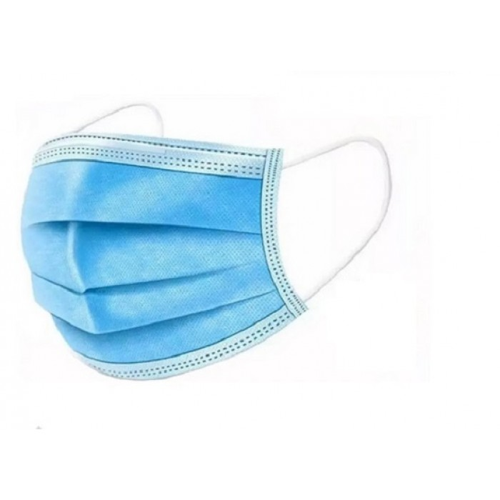 Masca chirurgicala albastra de unica folosinta cu 3 straturi si 3 pliuri
