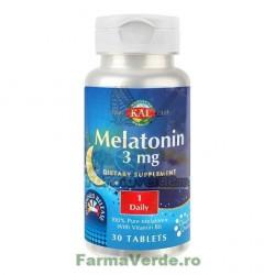Melatonin 3 mg Insomnie 30 tablete Kal Secom