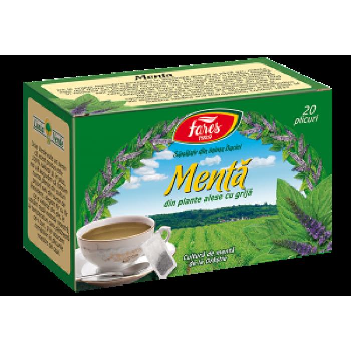 Ceai de Menta 20 plicuri Fares